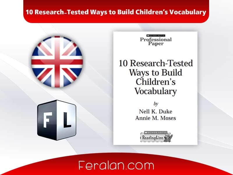 10 Research-Tested Ways to Build Children's Vocabulary