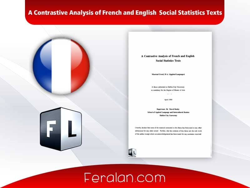 A Contrastive Analysis of French and English Social Statistics Texts