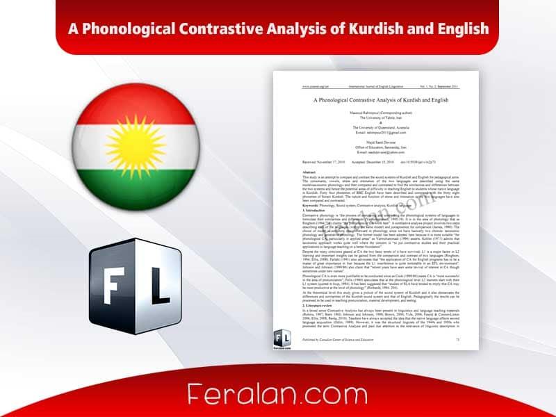 A Phonological Contrastive Analysis of Kurdish and English