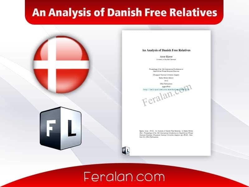 دانلود مقاله An Analysis of Danish Free Relatives