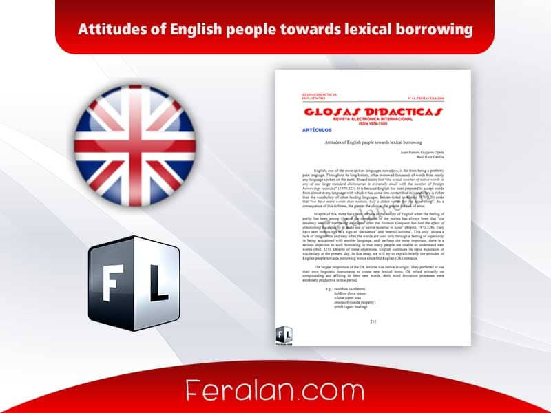 Attitudes of English people towards lexical borrowing