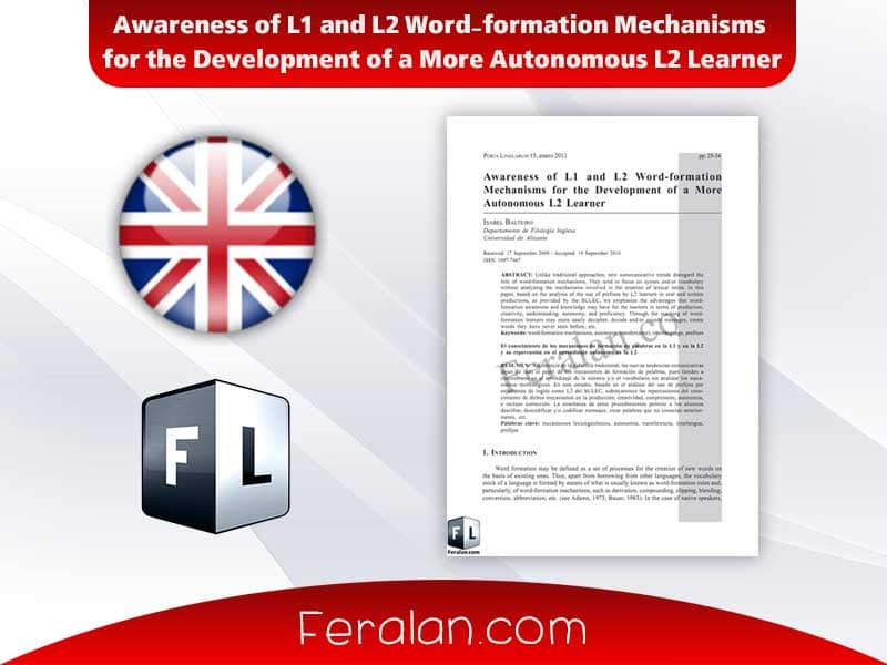 Awareness of L1 and L2 Word-formation Mechanisms
