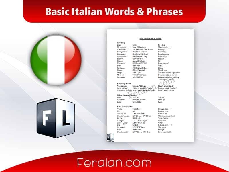 دانلود کتاب Basic Italian Words & Phrases
