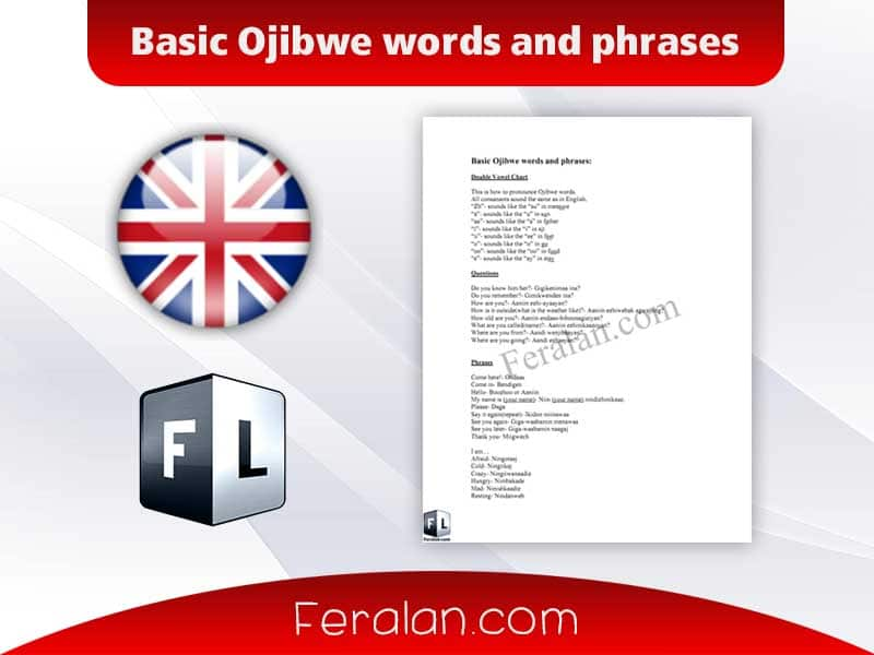 Basic Ojibwe words and phrases