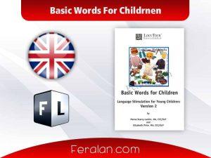 Basic Words For Childrnen