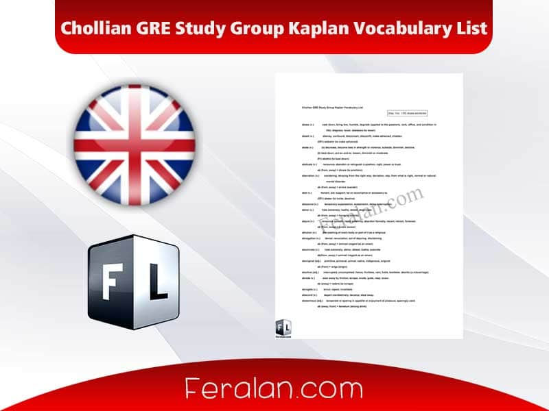 Chollian GRE Study Group Kaplan Vocabulary List