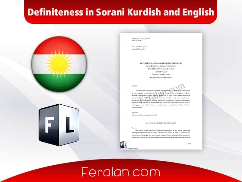 Definiteness in Sorani Kurdish and English