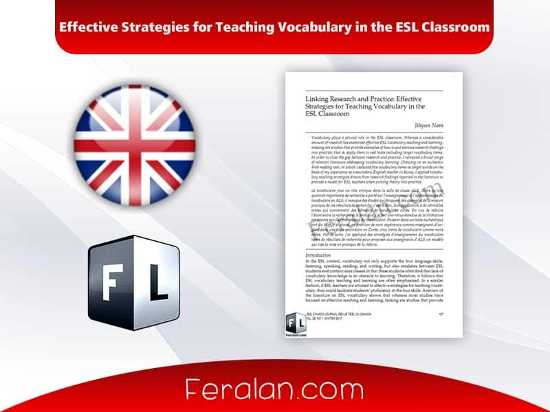 Effective Strategies for Teaching Vocabulary in the ESL Classroom