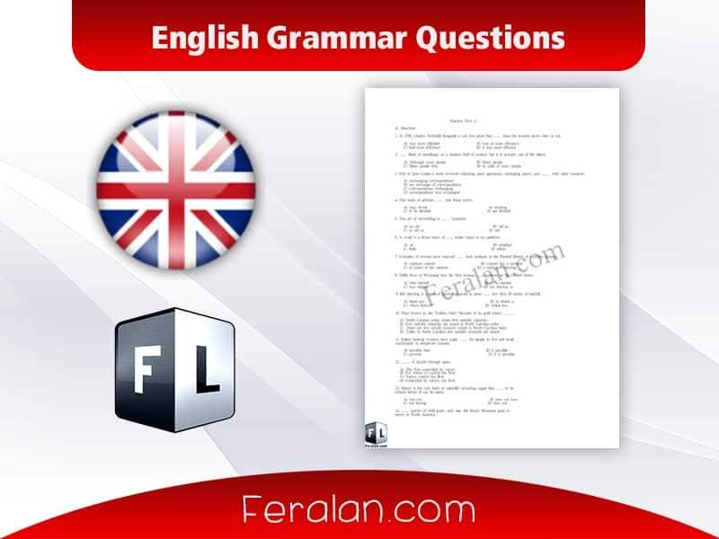 دانلود کتاب English Grammar Questions