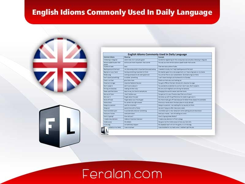 English Idioms Commonly Used In Daily Language