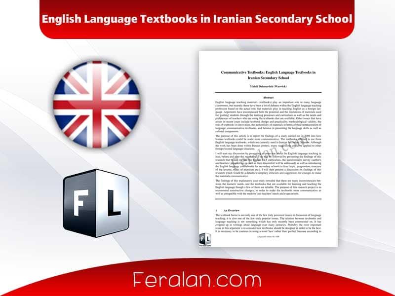 English Language Textbooks in Iranian Secondary School