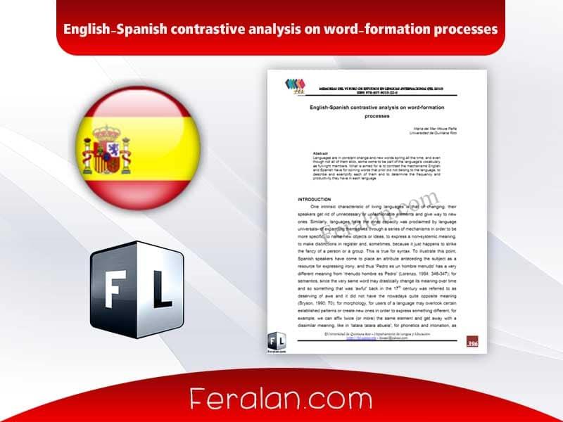 دانلود مقاله English-Spanish contrastive analysis on word-formation processes