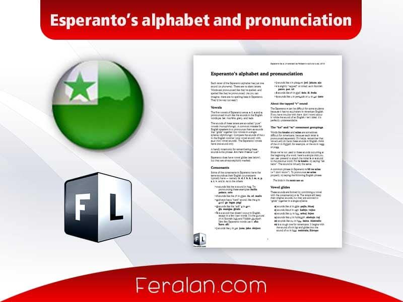 Esperanto's alphabet and pronunciation