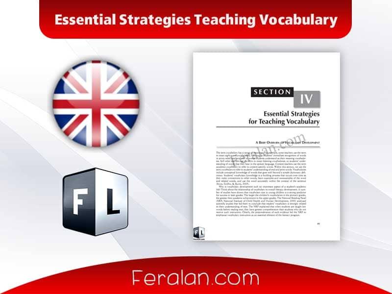 دانلود کتاب Essential Strategies Teaching Vocabulary