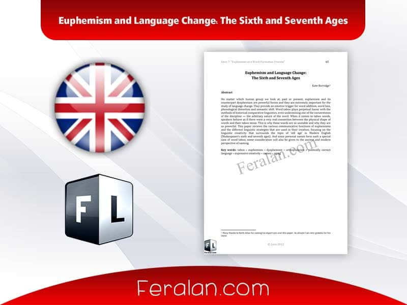 دانلود مقاله Euphemism and Language Change: The Sixth and Seventh Ages