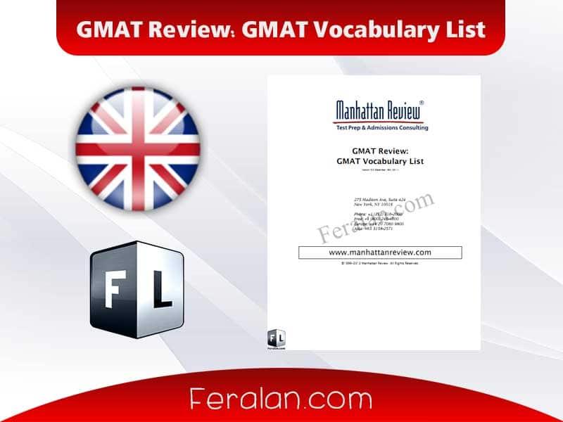 دانلود کتاب GMAT Review: GMAT Vocabulary List