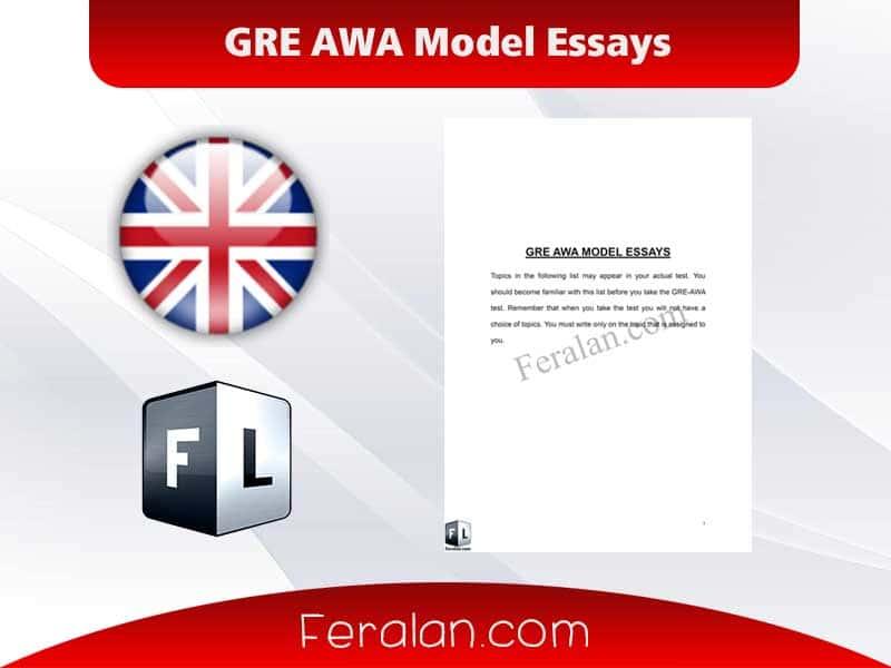 GRE AWA Model Essays