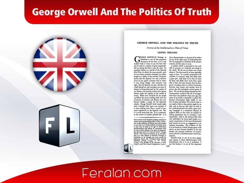 دانلود کتاب George Orwell And The Politics Of Truth