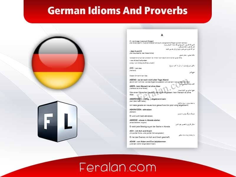 German Idioms And Proverbs A