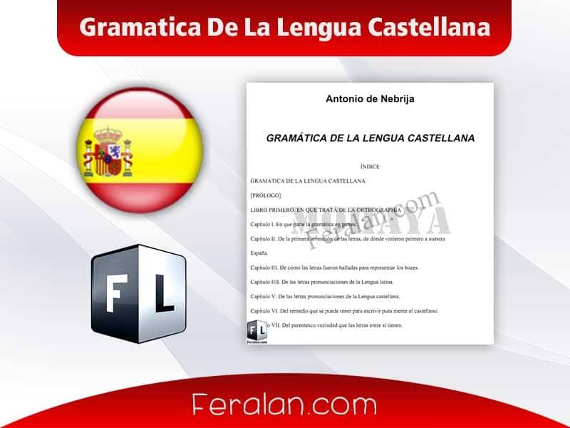 دانلود کتاب Gramatica De La Lengua Castellana