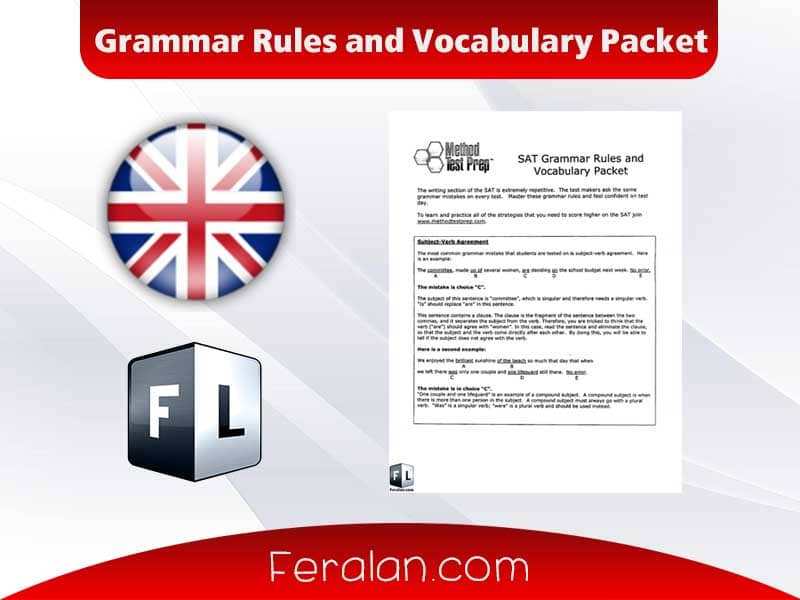 Grammar Rules and Vocabulary Packet