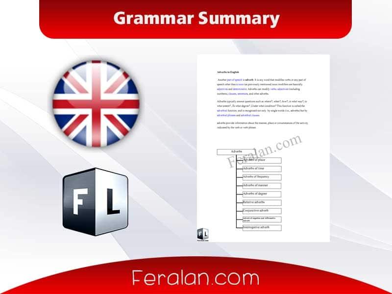 دانلود کتاب Grammar Summary