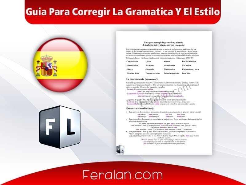 Guia Para Corregir La Gramatica Y El Estilo