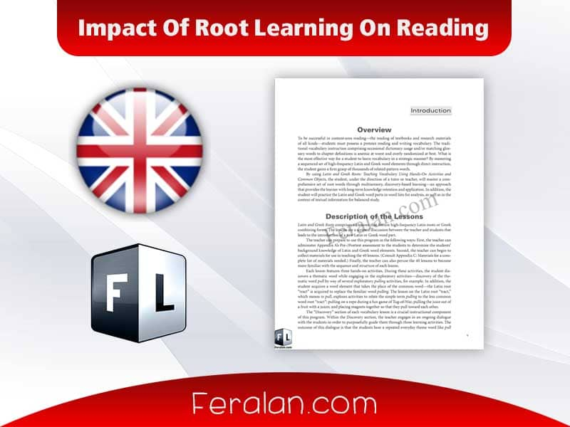 Impact Of Root Learning On Reading