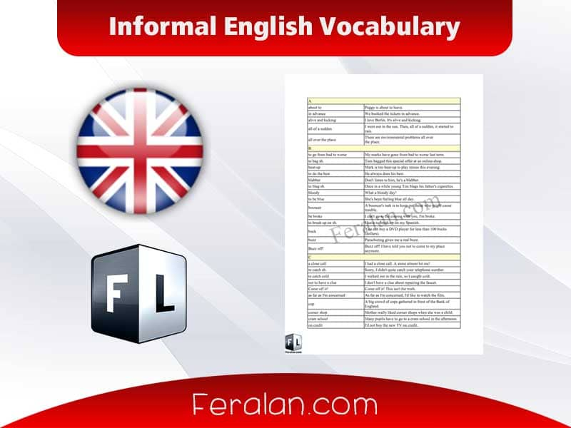 Informal English Vocabulary