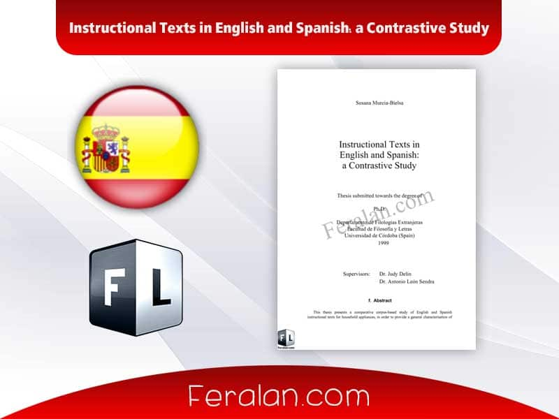 Instructional Texts in English and Spanish a Contrastive Study