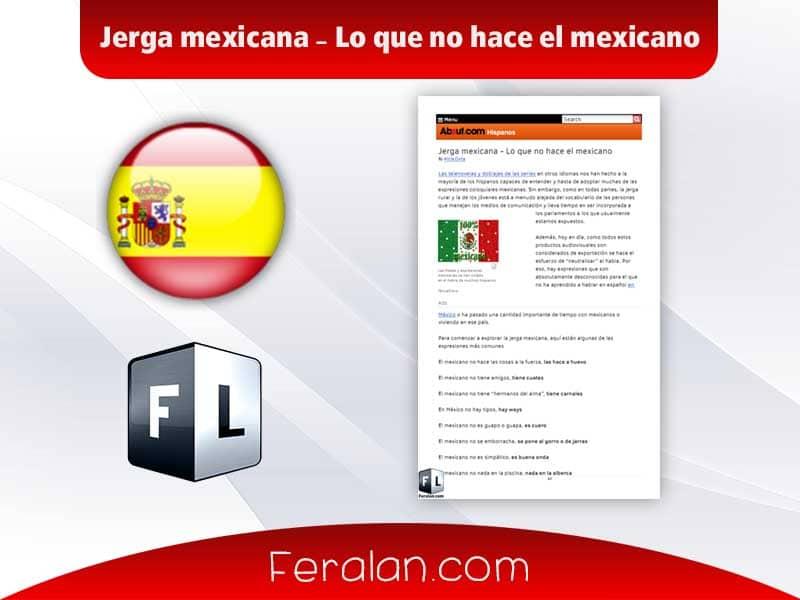 دانلود کتاب Jerga mexicana - Lo que no hace el mexicano