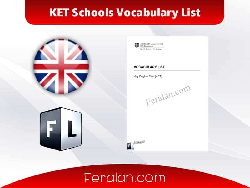 KET Schools Vocabulary List