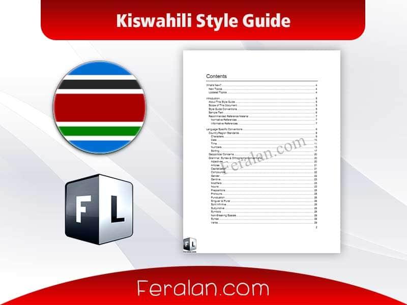 Kiswahili Style Guide