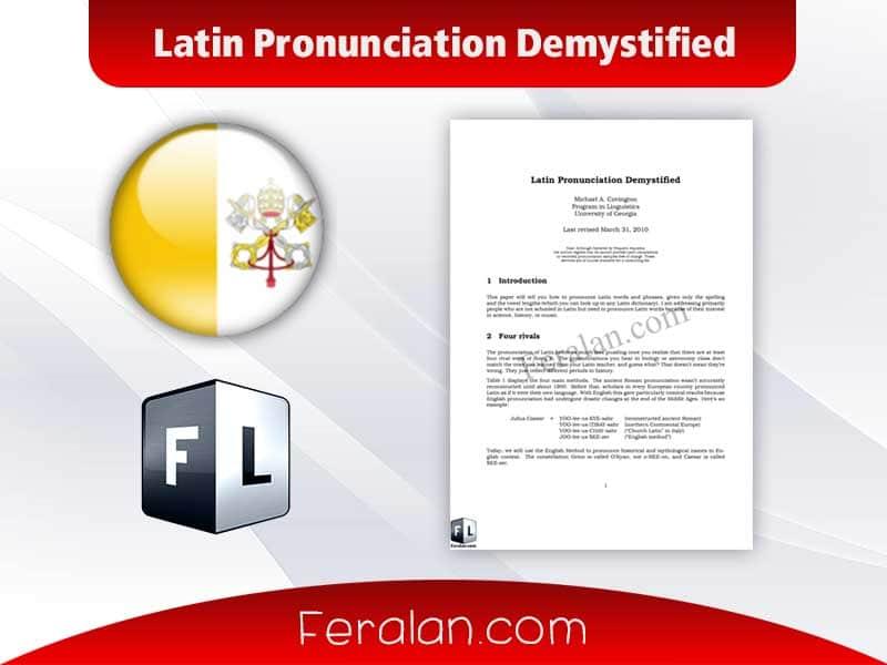 دانلود کتاب Latin Pronunciation Demystified