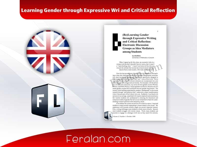 Learning Gender through Expressive Wri and Critical Reflection
