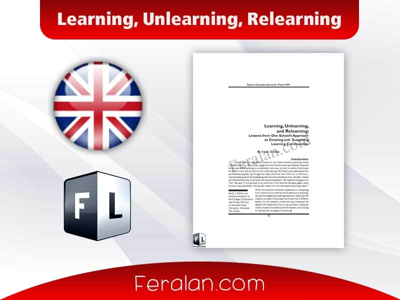 Learning, Unlearning, Relearning