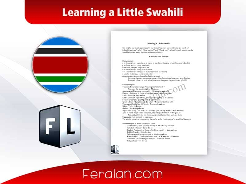 Learning a Little Swahili