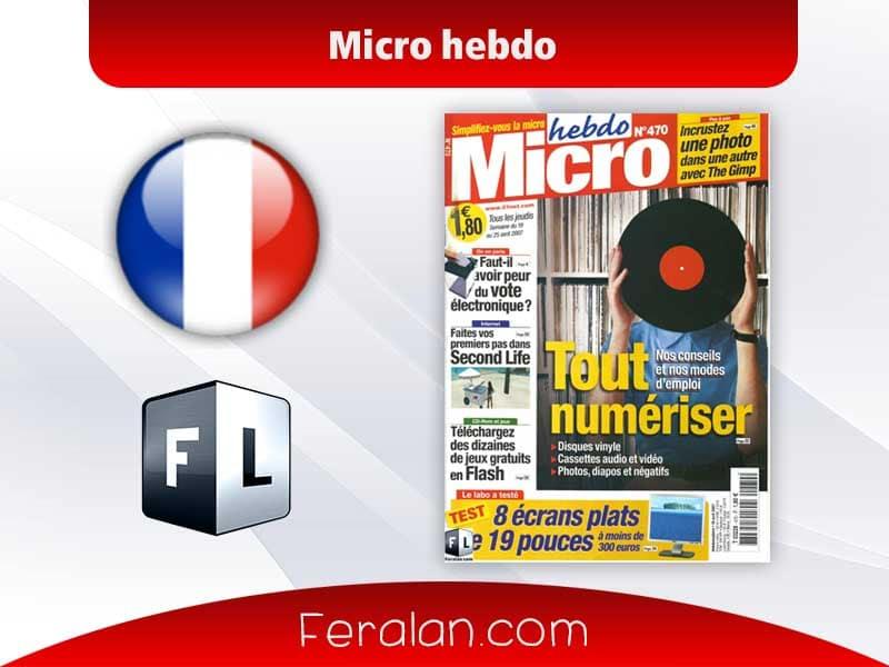 دانلود مجله Micro hebdo