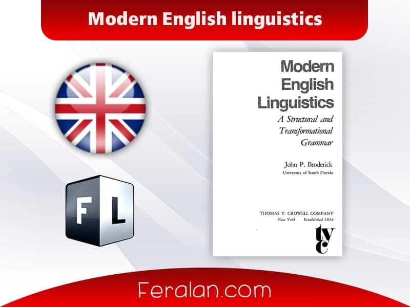 دانلود کتاب  Modern English linguistics