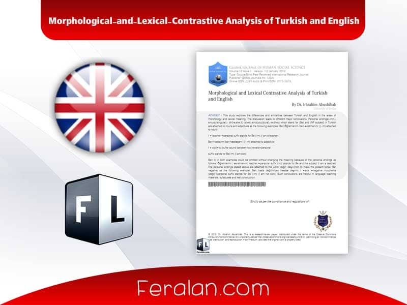 Morphological-and-Lexical-Contrastive Analysis of Turkish and English