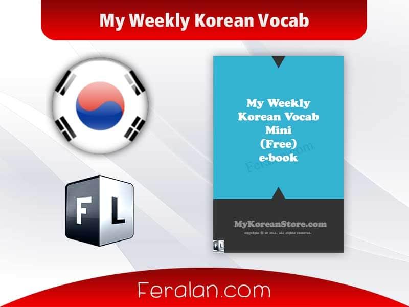 دانلود کتاب My Weekly Korean Vocab