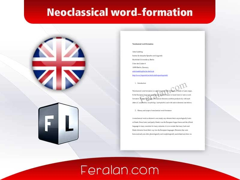 Neoclassical word-formation