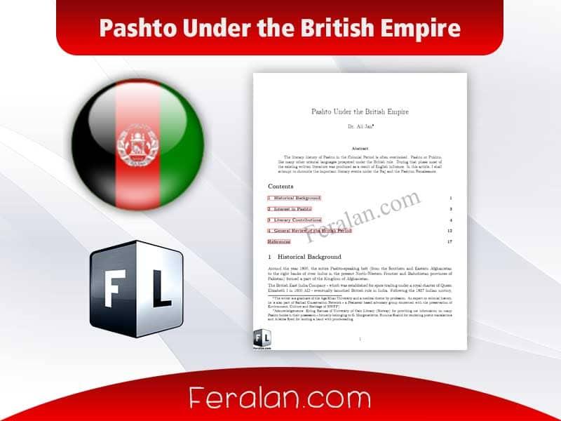 دانلود مقاله Pashto Under the British Empire