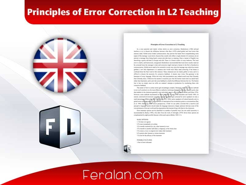 Principles of Error Correction in L2 Teaching