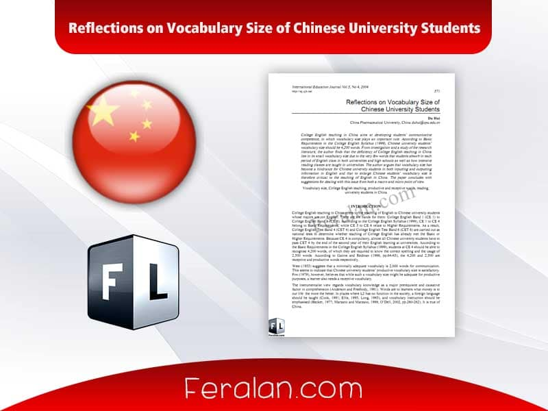 Reflections on Vocabulary Size of Chinese University Students
