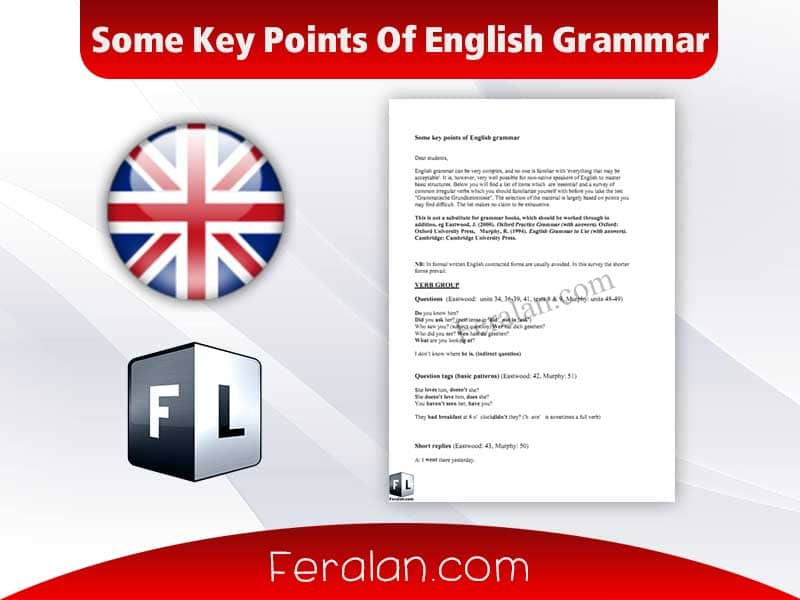 Some Key Points Of English Grammar