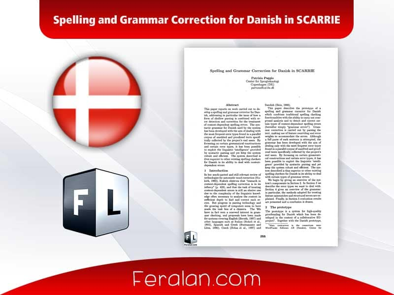 دانلود مقاله Spelling and Grammar Correction for Danish in SCARRIE