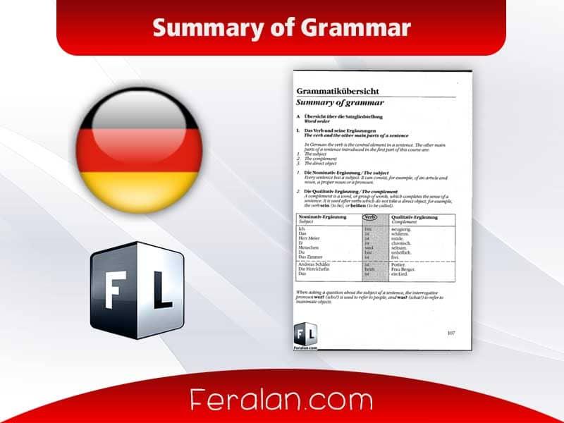 Summary of grammar