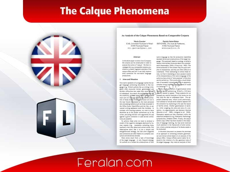 The Calque Phenomena