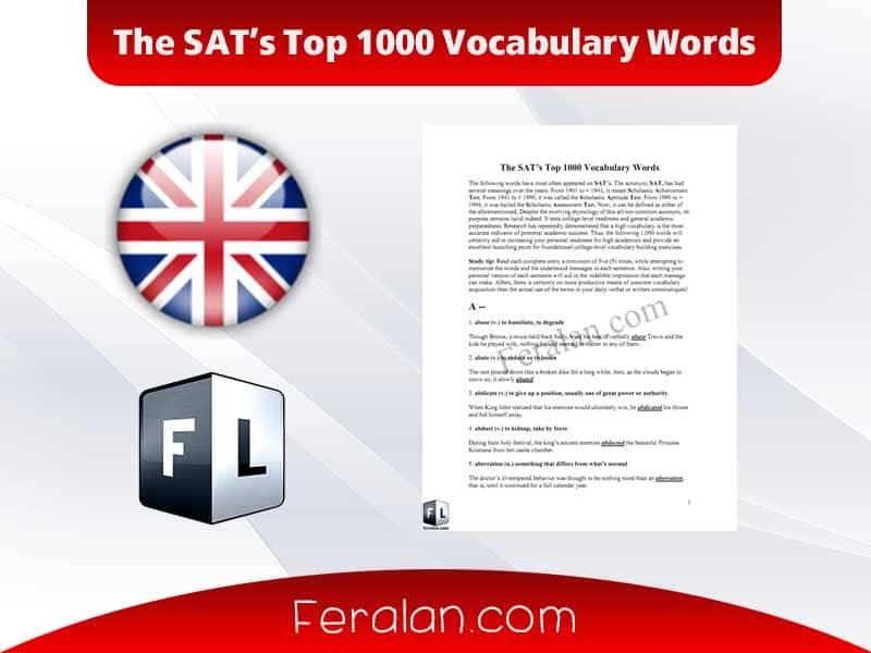 دانلود کتاب The SAT's Top 1000 Vocabulary Words